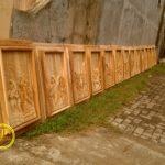 relief kayu jati 14 jalan salib