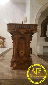 mimbar gereja,mimbar katolik,mimbar alleluia