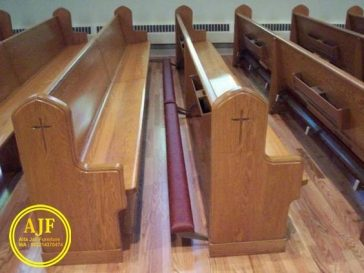 bangku gereja katolik tatakan sujud