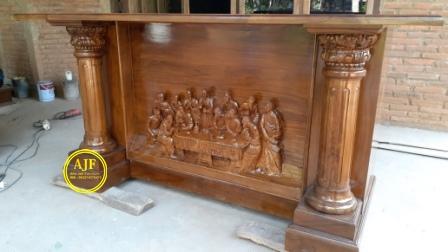 Jual Altar Gereja Katolik Kayu Jati