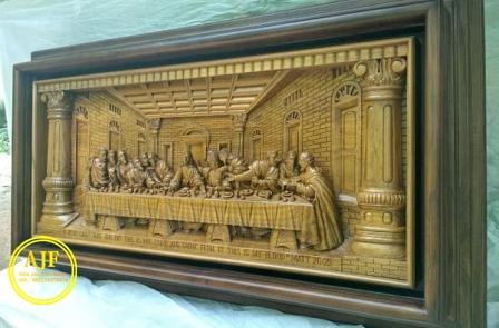 perjamuan terakhir kudus kayu jati