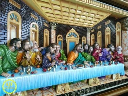 jual ukiran perjamuan kudus dari kayu