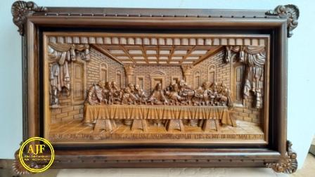 ukiran Jepara relief perjamuan kudus