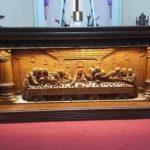 Meja altar gereja ukiran Jepara kayu jati