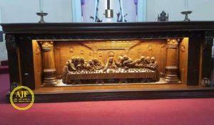 Meja Altar Gereja Ukiran Jepara