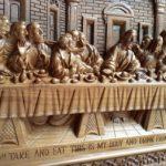 Relief ukir perjamuan kudus