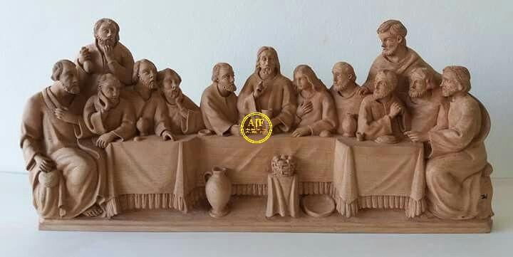 relief perjamuan terakhir yesus sebelum kematiannya
