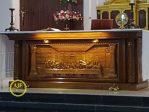Meja Altar Gereja Katolik Kayu Jati