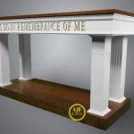 Meja Altar dan Mimbar Gereja Minimalis
