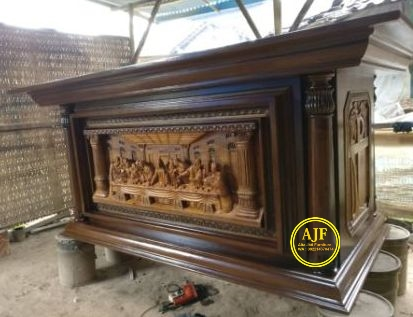 Meja Altar Gereja Katolik Ukiran Jepara