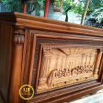 Meja Altar Katolik Ukiran Perjamuan Kudus