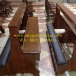bangku gereja katolik minimalis kayu jati