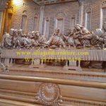 Meja Altar Gereja Katolik Relief Perjamuan