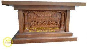 Meja Altar Gereja Katolik Kayu Jati Solid