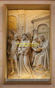 Ukiran Relief Jalan Salib Yesus
